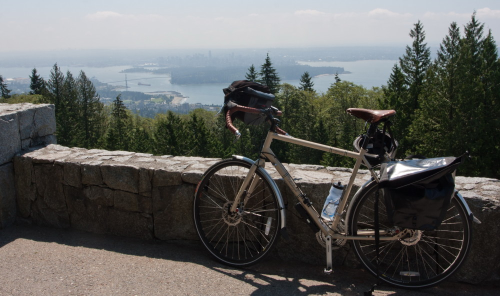 Bike, view, Vancouver, Cypress