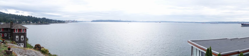 The view of Vancouver from the North Shore