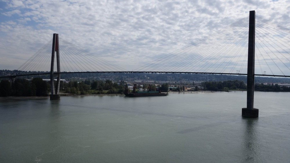 On top of Pattullo bridge