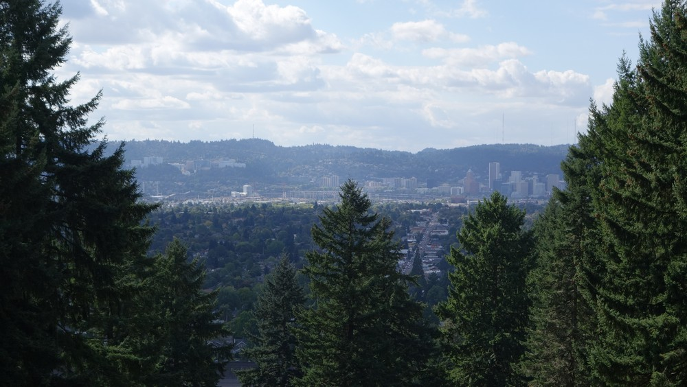 Looking west towards downtown Portland