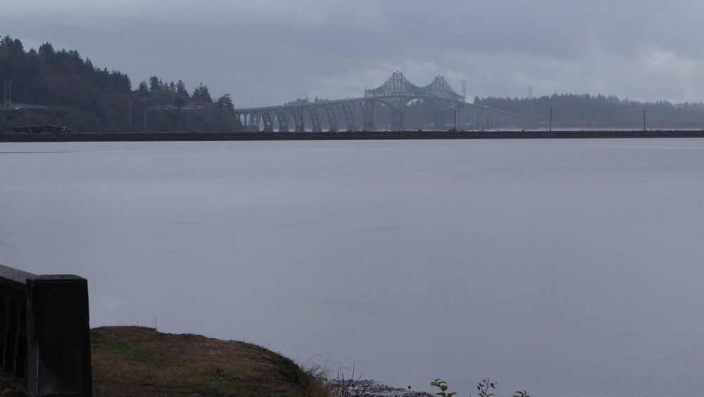 The bridge of North Bend, while it was still raining