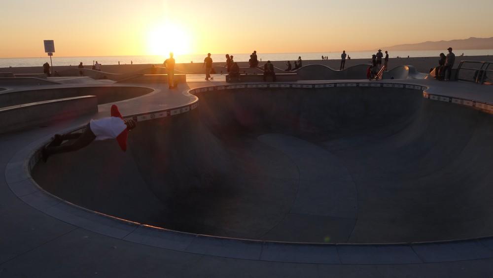 Skate park by Venice beach