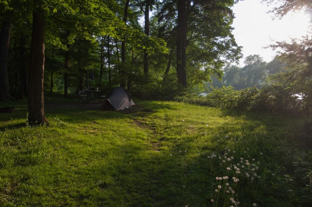 Premium camping spot